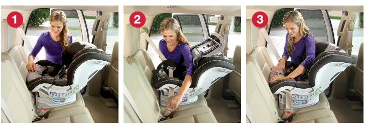 rear facing installation britax demo