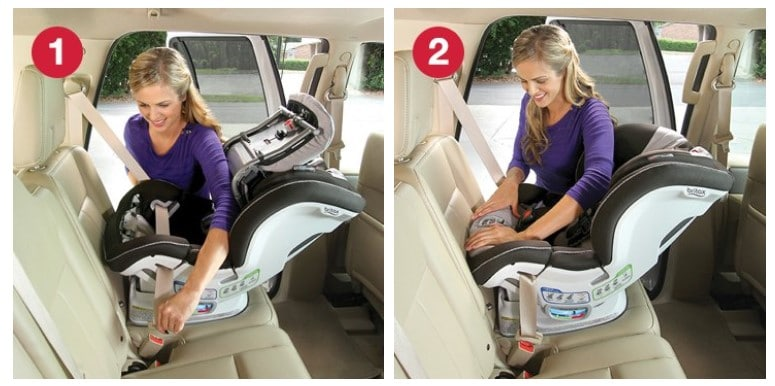 rear facing installation britax