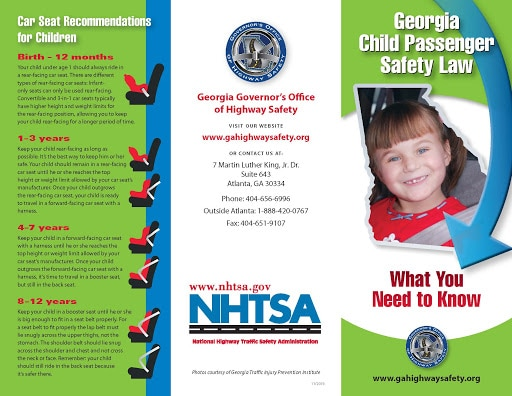 Georgia Car Seat Laws 2021 Current Laws Safety Resources For Parents Safe Convertible Car Seats